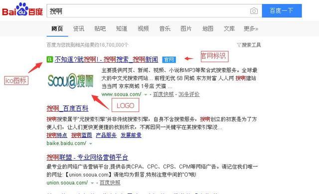 如何让百度搜索结果显示您的网站logo及官网