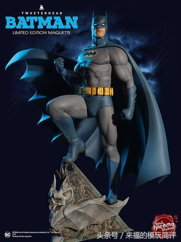 Tweeterhead发布DC Super Powers Collection 1/6蝙蝠侠雕像