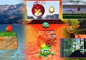 愤怒的小鸟在JUMP先生3D动画仿冒游戏mashupFunoTV-风格