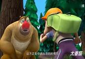 傻傻的熊二又被光头强说服,帮他寻找神奇动物