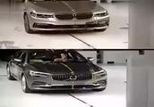 如何看待沃尔沃S90和宝马5系 做个碰撞测试就清楚了!