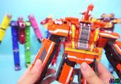 迷你小火车手工制作变形金刚机器人