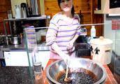 海口古法手炒黑糖珍珠鲜奶,软糯弹牙的珍珠带有焦糖味
