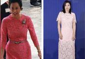 郭晶晶和婆婆同台比美,同穿天价蕾丝,婆媳身材差距不是一般大!