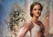 来组《美女与野兽》中贝尔公主的高清剧照,艾玛沃特森饰贝尔