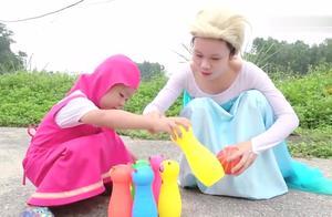 亲子早教益智,萌娃和妈妈一起玩羊驼玩具,快乐的亲子时光