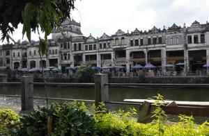 欧陆式的广东赤坎古镇,骑楼建筑多达六百座