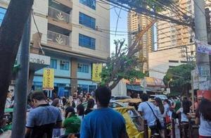 菲律宾马尼拉发生6.4强地震办公楼摇晃,2建筑倒塌至少5死!