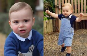 1岁的路易小王子,长得越来越可爱了,很像小时候的乔治小王子