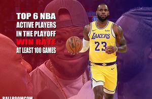 NBA季后赛谁胜率最高?詹姆斯力压杜兰特,勇士四天王上榜!
