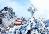 武当山雪景,真的太美了