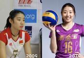 """中国女排三国手参加""""十年对比挑战"""",一女神貌美如昔惊艳了时光"""