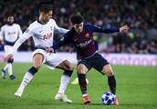欧冠:巴塞罗那1-1托特纳姆热刺;梅西替补登场