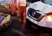 突发!峨眉山一白色越野车撞翻5名行人,司机称为了照看后座小孩