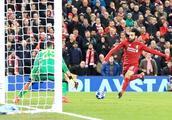 萨拉赫轻松晃过一亿欧破门,助利物浦进入欧冠十六强