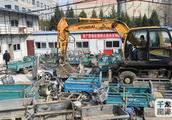 北京来广营集中销毁黑摩的