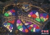 灯火璀璨 北京世园会园区亮灯