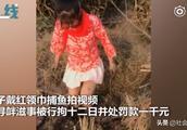 女子为涨粉戴红领巾衣着暴露拍视频 警方:涉嫌寻衅滋事 拘留12日
