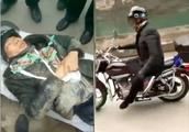 男子跷二郎腿骑摩托车摔骨折,网友:本以为是王者,原来是青铜