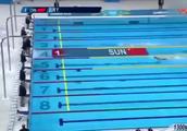 孙杨最厉害的一次, 破纪录, 领先第二名半个泳池