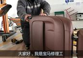 宝马4S店师傅更换开裂的五系座椅座套,五系座套开裂是通病