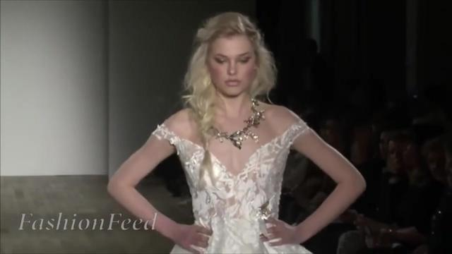 054.时尚时装秀Lazaro _ Full Show _ Bridal Fashion Week _ Spr