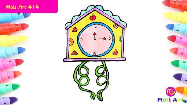 大班数学我会看时钟_钟表图片